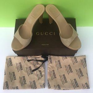 "Amazing Gucci GG"" Monogram High Heels Sz: 7.5"